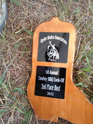 Taylor Rodeo 2013 Trophy.